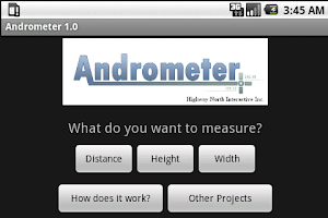 Screenshot of Andrometer