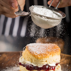 A Fine Sprinkle by Darryll Jones - Food & Drink Cooking & Baking ( scone, bake, baking, jam, chef, cream )