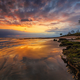 Low Tide by Budi Astawa - Landscapes Beaches ( bali, cupel, sunset, jembrana, beach, munjuk asem, negara )