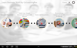 Screenshot of Learn Business Math