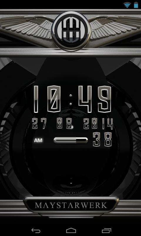 Digi Clock Widget Atlantis Screenshot 1
