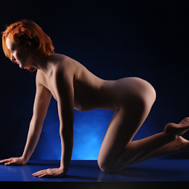 All Blue by Vineet Johri - Nudes & Boudoir Artistic Nude