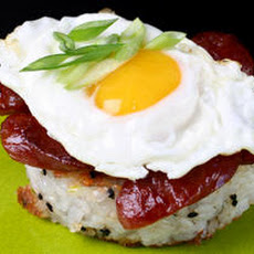 Breakfast Rice Cakes with Chinese Sausage Recipe