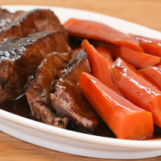 Soy-Braised Pot Roast with Carrots