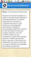 Screenshot of SFA Structured Settlements
