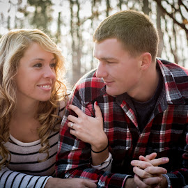 Newly Engaged by Brandi Davis - People Couples ( ring, girl, couple, boy, engagement )