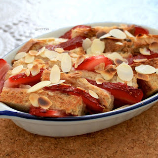 Almond and Strawberry French Toast Bake
