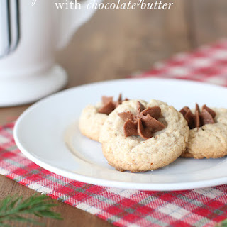 Pecan Thumbprint Cookies with Chocolate Butter
