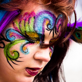 Edinburgh's Carnival by Marcelo Fetz - People Body Art/Tattoos ( edinburgh, carnival, princes street, body art )