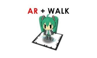 Screenshot of AR VOCALO WALK