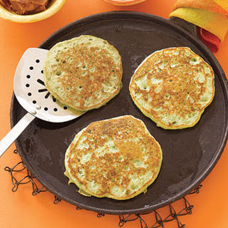 Pea Pancakes with Bacon