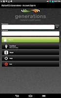 Screenshot of Generations FCU Mobile Banking