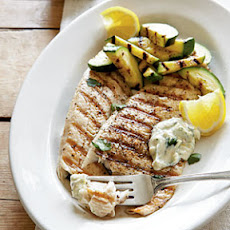 Grilled Trout with Garden Zukes and Herb Aïoli