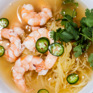 Lemongrass Shrimp Soup with Spaghetti Squash