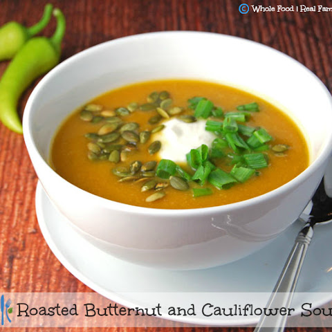 Roasted Butternut and Cauliflower Soup