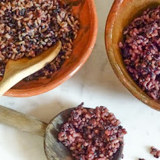 Steamed Brown and Black Rice