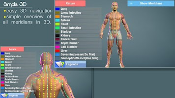 Screenshot of Easy Acupuncture 3D -LITE