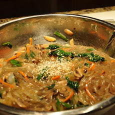Japchae Korean Noodle With Vegetable