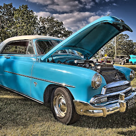 Powder Blue Two Toned Coupe by Ron Meyers - Transportation Automobiles ( 2014 claremore auto show 9-27-2014 )