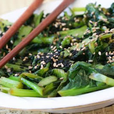 Chilled Wilted Tatsoi Salad Recipe with Sesame-Ginger Dressing