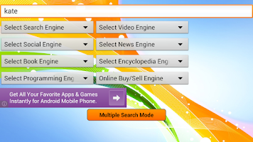 Screenshot of Super Search - web browsers