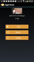 Screenshot of Jiggle Movie, Fun Video Editor