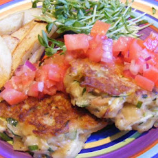Tuna Pasta Fritters With Salsa