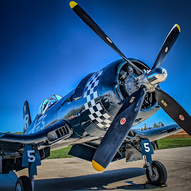Corsair by Ron Meyers - Transportation Airplanes