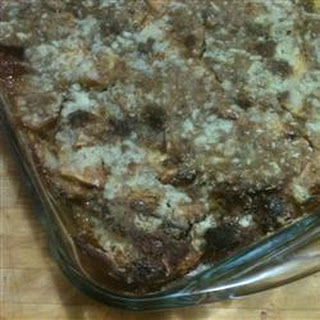 Apple Bread Pudding Pie
