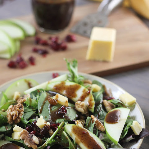 Cheddar & Apple Winter Salad with Balsamic-Feta Vinaigrette