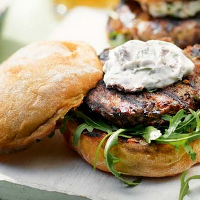 Italian burger with Caramelized Onion