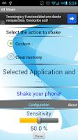 Screenshot of shake free memory