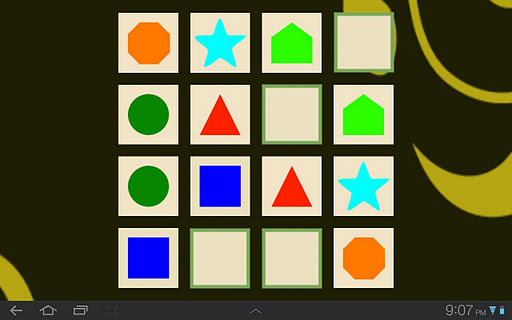 Shapes Memory Match