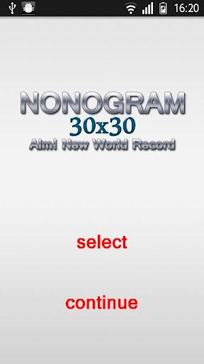 Nonogram 30x30