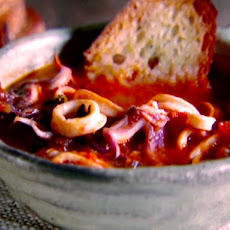 Calamari Stew with Garlic Toast