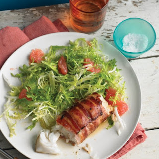 Bacon-Wrapped Cod with Frisee