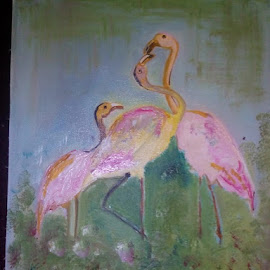 Birds by Vinay Tr - Painting All Painting