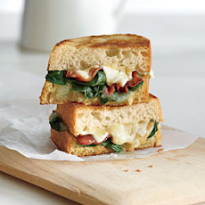 Garlicky Grilled Cheese with Bacon and Spinach