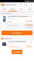 Screenshot of notebooksbilliger.de App