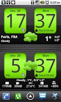 Screenshot of Flip Clock xTheme Widget 4x2