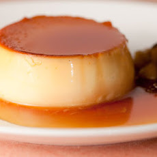Creme Caramel With Apple Compote
