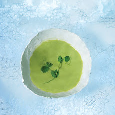 Chilled Fresh Pea and Buttermilk Soup