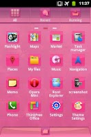 Screenshot of GO Launcher EX Theme Pink