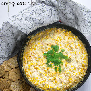 Roasted Hatch Chile Creamy Corn Dip