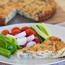 Crustless Leeks and Turkey Bacon Quiche