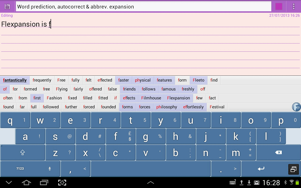 Flexpansion Keyboard FREE Screenshot 10