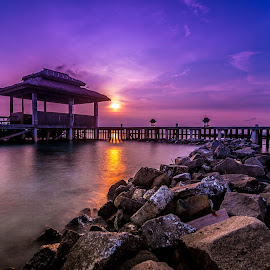 Sunset Sekati Island by Igede Pratama - Landscapes Sunsets & Sunrises ( fuji x, nature, sunset, beach, landscape )