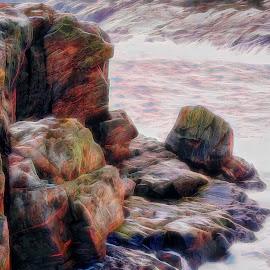 Sea & rock by Janne Monsen - Nature Up Close Rock & Stone ( mountain, sea, rock, sotra, norway )