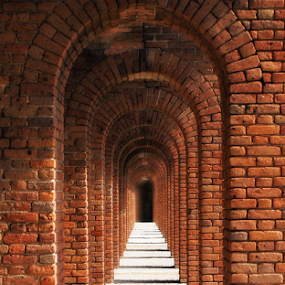Arches by Of-the-Star Designs - Buildings & Architecture Architectural Detail ( doors, national park, arch, florida, brick, arches, jefferson, door, bricks, key west, fort, dry tortugas )