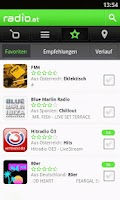 Screenshot of radio.at
